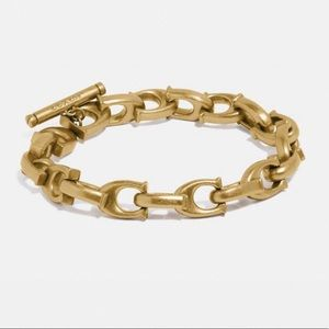 NWT Retired Coach | Gold Sculpted Chain Bracelet
